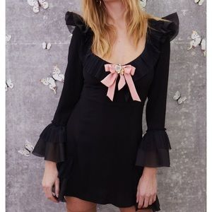 NWT For Love and Lemons Evie Mini Dress size S